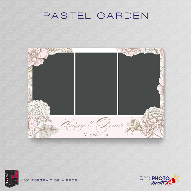 Pastel Garden \u2013 Portrait Mirror \u2013 for Darkroom Booth Photo Booth Talk