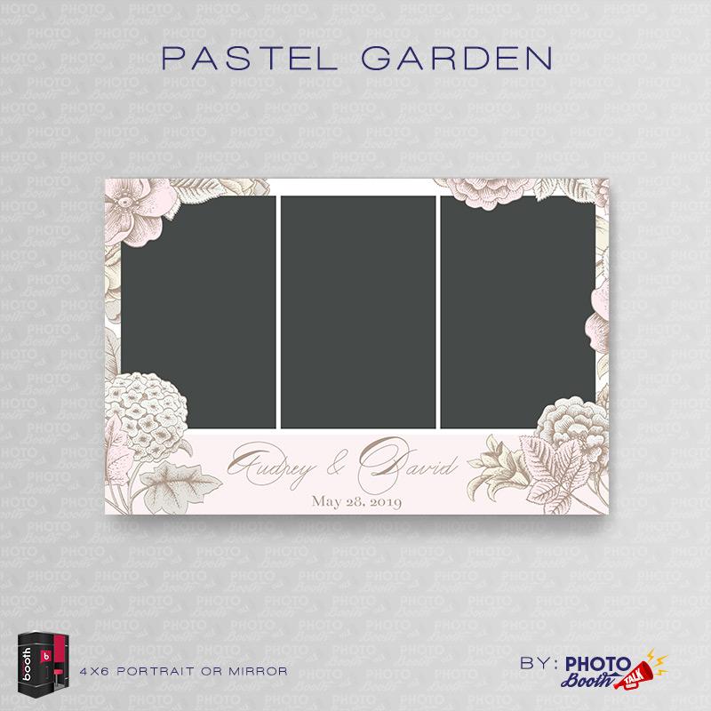 Pastel Garden \u2013 Portrait Mirror \u2013 for Darkroom Booth Photo Booth Talk - po booth template