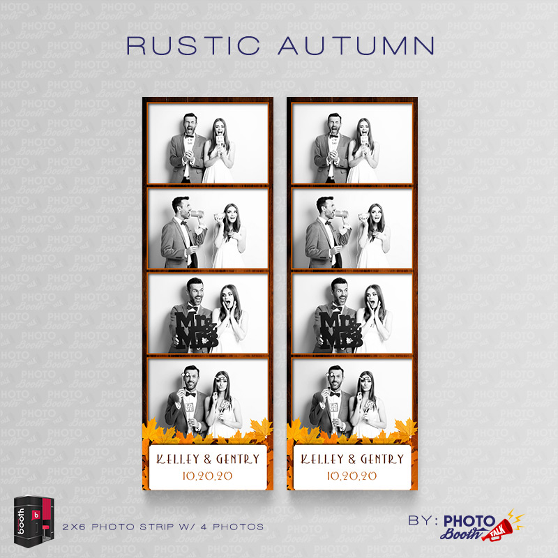 Rustic Autumn \u2013 for Darkroom Booth Photo Booth Talk - 4up template