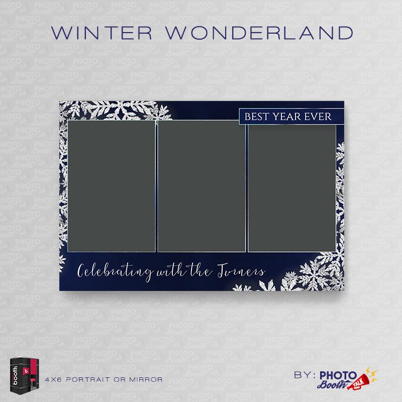 Winter Wonderland \u2013 Portrait Mirror \u2013 for Darkroom Booth Photo - po booth template
