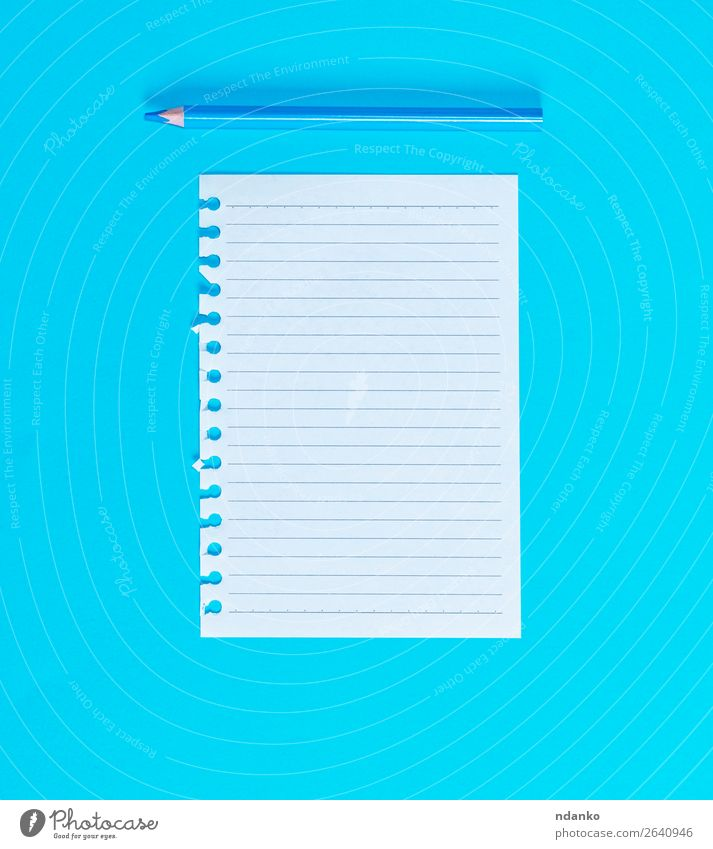 white blank sheet in line torn out of notepad - a Royalty Free Stock