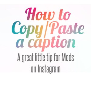 how to copy and paste a caption on instagram