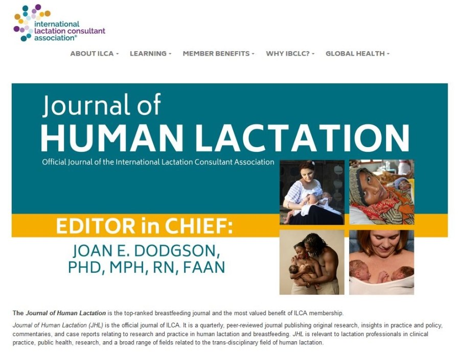 Journal of Human Laction - ILCA - February 2016 - Cristina Nichitus Roncea