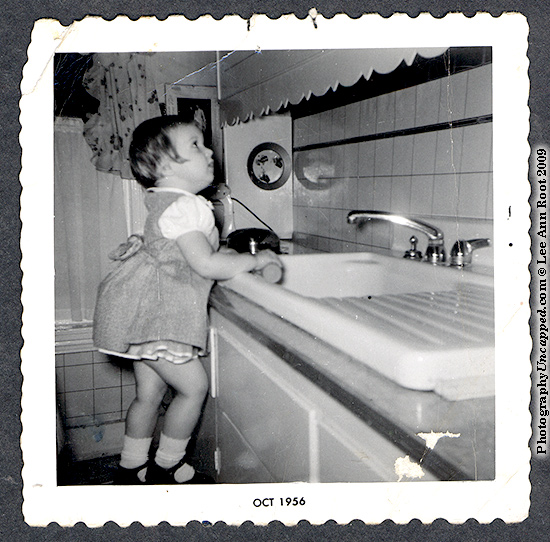 Lee in the Kitchen at age 2, 1956