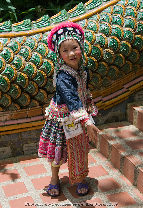 Hill Tribe Girl at Doi Suthep
