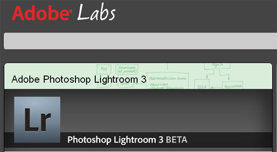 Adobe Lightroom Beta 3