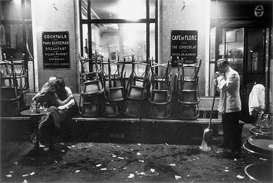 Magnum Photographer Dennis Stock - Café de Flore 1958