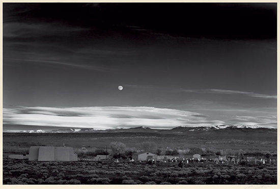 Ansel Adams - Moonrise, Hernandez, New Mexico 1941 - Swann Auction Galleries