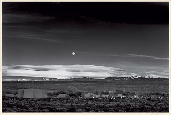 Ansel Adams - Moonrise, Hernandez, New Mexico 1941 - Swann Auction Galleries