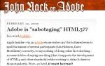 "Is Adobe ""Sabotaging"" HTML5??"