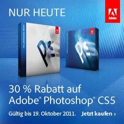 Einzigartiger One Day Deal ! 30% Rabatt auf Adobe Photoshop!