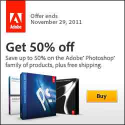 50% Off Photoshop Family Software