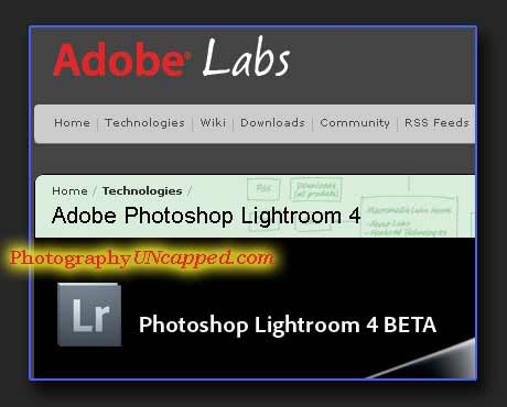 Adobe Photoshop Lightroom 4 Beta Download