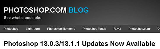 Photoshop 13.0.3 13.1.1 Updates