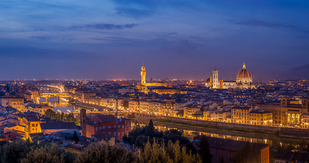Vista Wallpaper Hd Photography Of Florence By Night Hd Panorama From Piazzale