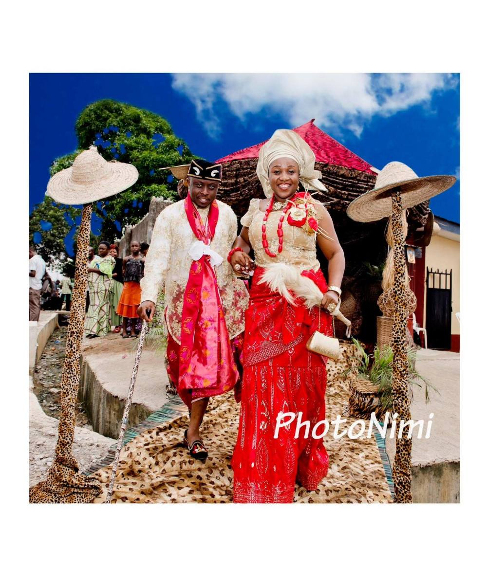 The Bride & Groom...Colourful!
