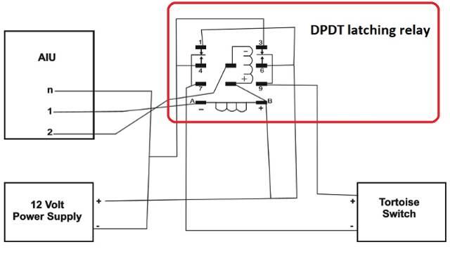 O Gauge Tortoise switch machine control using MTH AIU SW Port JC
