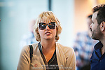 NLD/Schiphol/20140904 - Former Victoria Secret model Estelle Warren arrives in the Netherlands (Edwin Janssen/foto: Edwin Janssen)