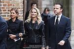 NLD/Delft/20131102 - Herdenkingsdienst voor de overleden prins Friso, Emily Bremers en partner Roderick van der Wijck (Anneke Janssen/foto: Anneke Janssen)