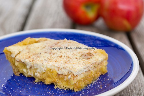 Apple Kuchen prepared by Erin Marshal in Rogers, Arkansas. Photo by Beth Hall (Beth Hall)