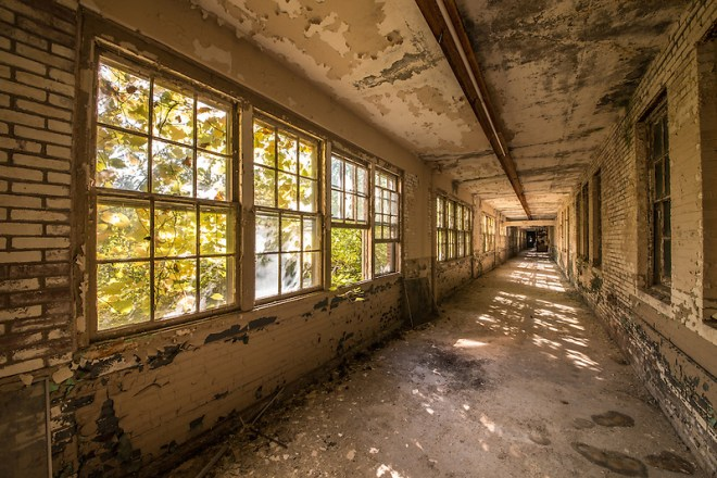 "The Abandoned ""White Hall"" at Chanute Air Force base in Rantoul, IL. (Walter Arnold)"