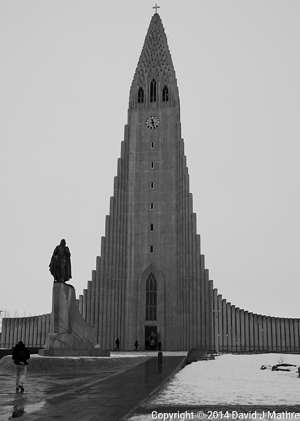 Leif Erickson statue in front of the Cathedral in Reykjavik. Image taken with a Leica X2 camera (ISO 100, 24 mm, f/5, 1/250 sec). (David J Mathre)