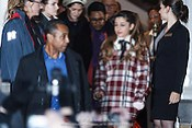 NLD/Amsterdam/20131109 - Ariana Grand leaving the hotel for the MTV EMA 2013 (Anneke Janssen/foto: Edwin Janssen)