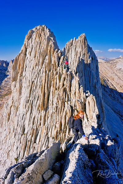 Climbers on the classic traverse of Matthes Crest, Yosemite National Park, California (Russ Bishop/Russ Bishop Photography)