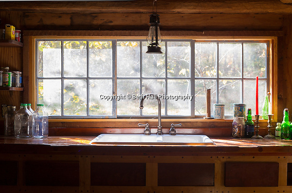 Interior of the kitchen sink at the home of Robert Runyon in Sugar Tree Hollow in Winslow, Arkansas, for Out Here Magazine. Photo by Beth Hall (Beth Hall)