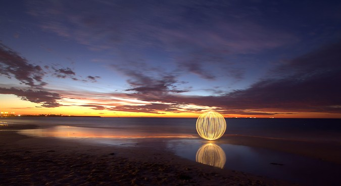 The Orb shows itself at Port Beach, Fremantle. (Tristan Jud)