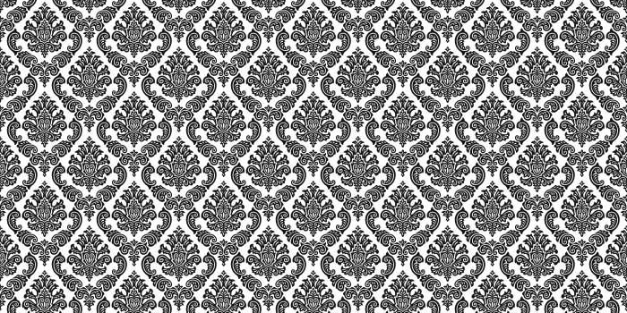 10 Black and White Vintage Damask Patterns PHOTOSHOP FREE BRUSHES