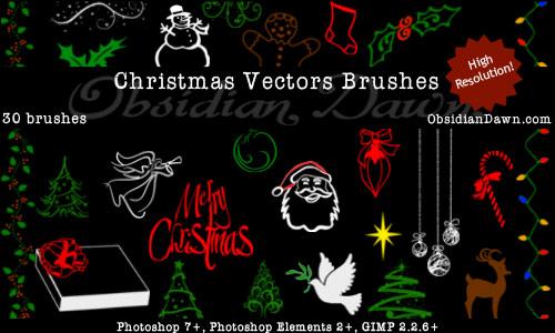 Free Christmas Vectors Photoshop Brushes PhotoshopSupport