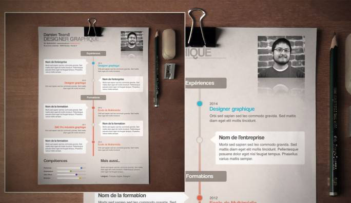 creer site web cv