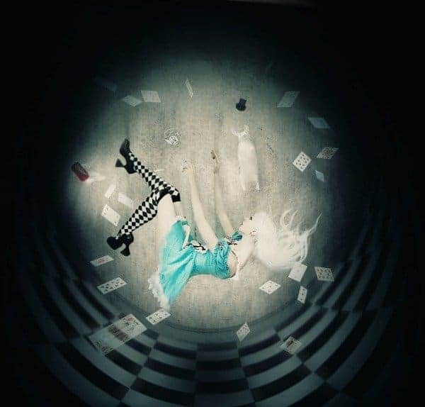 Falling Down The Rabbit Hole Wallpaper How To Create An Alice In Wonderland Inspired Artwork