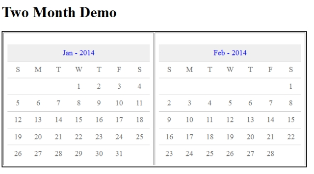 PHP Event Calendar Class Generate HTML to display month event