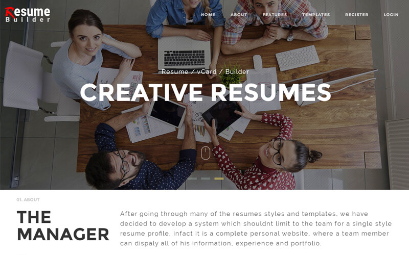 resume builder script, WordPress resume builder themes