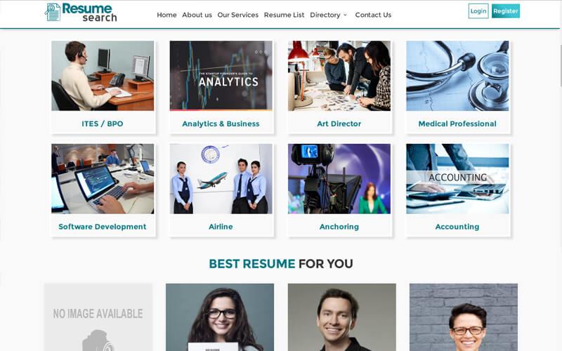 CV search script, Resume search script, CV search website script,