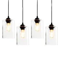 Clear Glass Jar Pendant Lighting 7395 : Free Ship! Browse ...