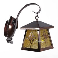 Antique Iron And Crystal Glass Shade Wall Sconce 7557 ...