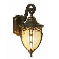 Antique Iron and Water Glass Wall Sconce 9563 : Free Ship ...