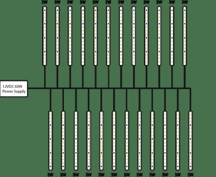 led strips wiring diagram