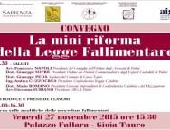"""Gioia Tauro, evento convegno """"La mini riforma della Legge Fallimentare"""""""