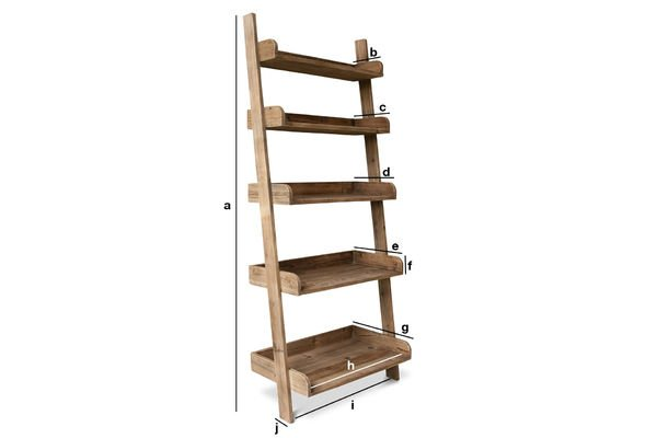 Big Ladder Bookshelf Made Out Of Old Solid Wood Pib