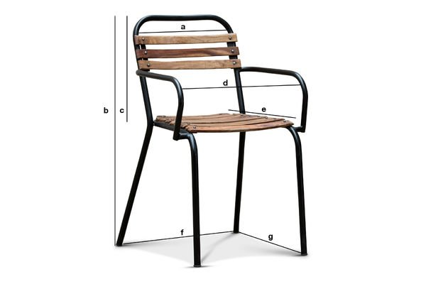 Mistral Chair With Armrests Industrial Vintage Style Pib