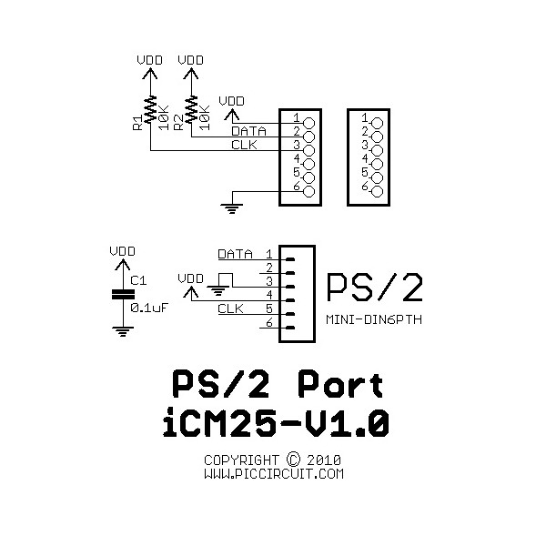 ps 2 mouse wire schematic