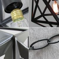 BLACK CHANDELIER LIGHTING Bar Lamp Vintage Pendant Light ...