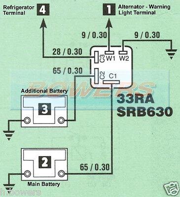 LUCAS SRB630 33441 12V 33Ra 60 Amp 5 Pin Split Charge Relay As