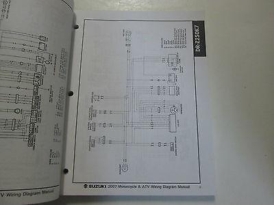 2007 SUZUKI MOTORCYCLE  ATV Wiring Diagram Manual Models K7 FACTORY