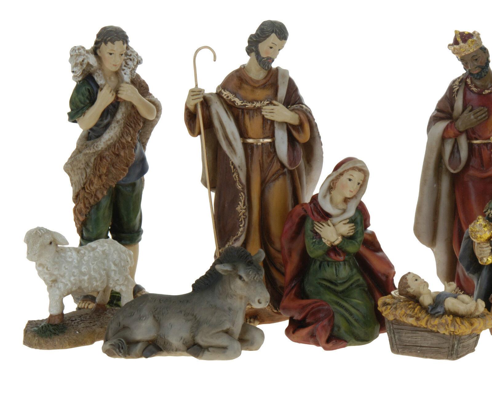11 Piece Traditional Resin Christmas Nativity Figurine