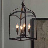 Vintage Industrial Hanging Chandelier Lantern Pendant ...